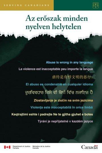 Az erőszak minden nyelven helytelen - Justice