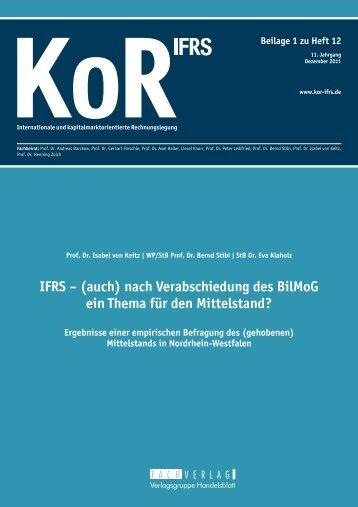 IFRS - (auch) - Der Betrieb