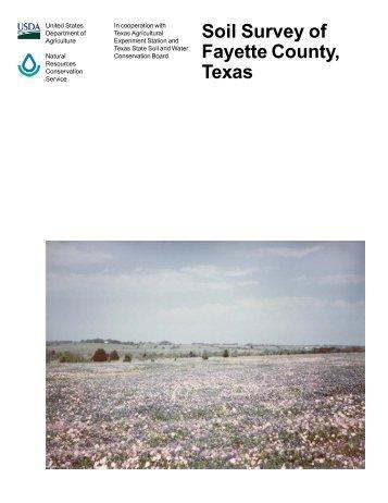 Soil Survey of Fayette County, Texas - Soil Data Mart