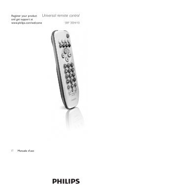 how to use philips universal remote
