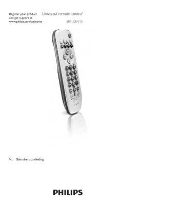 Universal remote control - Philips
