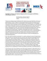 Spotlight on Turkey: U.S. Business Opportunities in ... - Export.gov