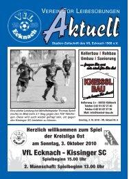 VfLAktuell_05_10/11 - VfL Ecknach