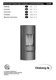 Kaminofen Tolima Aqua Compact, raumluftunabhängig ... - Welte Öfen
