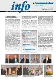 Infoblatt 23/2008 - Baumeister Verband Aargau