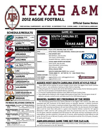 Complete Release (PDF) - Aggie Athletics