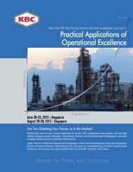 Practical Applications of Operational Excellence - KBC