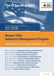 The 10 Day Mini-MBA - ZfU - International Business School