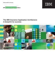 The IBM Insurance Application Architecture - Strategy 7 Corporation