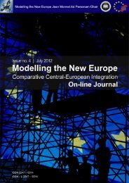 On-line journal no. 4 – July 2012 - Modelling the New Europe