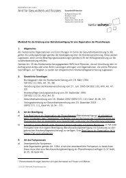 Gesundheit/Prävention - Kanton Schwyz