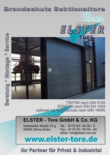 12 BS Sektionaltore - ELSTER-Tore