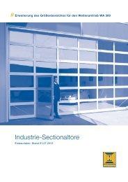 Einbaudaten Industrie Sectionaltore