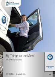 Big Things on the Move - TÜV Süd