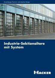 Industrie-Sektionaltore mit System - Hacker AG