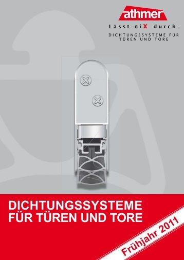 DICHTUNGSSYSTEME FÜR TÜREN UND TORE - Barbier