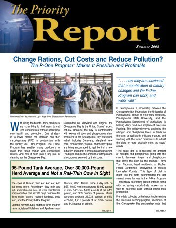 cont'd from page 1 - For Healthy Cows