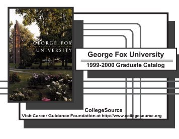1999-00 - George Fox University