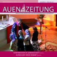koNfirMAtioN iN geMeiNschAft | seite 8 Altbischof ... - Auenkirche