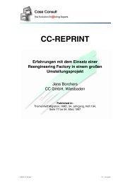 Erfahrungen mit dem Einsatz einer Reengineering ... - CC GmbH
