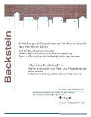 Backstein Frühling/Sommer 2012 - Fachhochschule für öffentliche ...