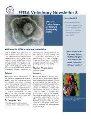 EFTBA Veterinary Newsletter 8 - Iena