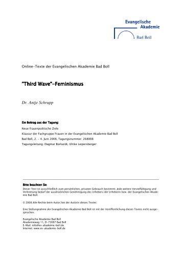"""Third Wave""-Feminismus Feminismus Feminismus - Evangelische ..."