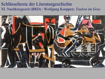 Schlüsseltexte der Literaturgeschichte - Literaturwissenschaft-online