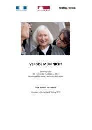 VERGISS MEIN NICHT - Locarno Film Festival