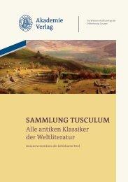 SAMMLUNG TUSCULUM - Oldenbourg Verlag