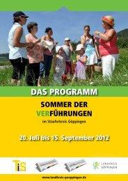 Sommer der VerFührungen - Landkreis Göppingen