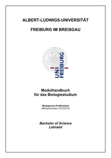 ALBERT-LUDWIGS-UNIVERSITÄT FREIBURG IM BREISGAU