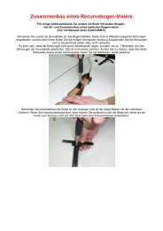 Zusammenbau eines Recurvebogen-Visiers - Armbrust und Bogen ...