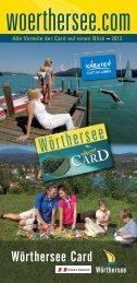 Wörthersee Card - Produkte