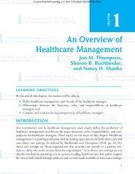 An Overview of Healthcare Management - Jones & Bartlett Learning