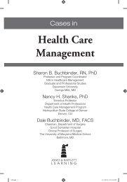 Health Care Management - Jones & Bartlett Learning