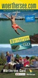 Wörthersee Card Broschüre 2011 - Produkte