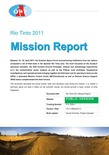 Mission Report - ISA