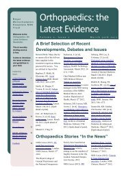 Orthopaedics: the Latest Evidence Volume 2 Issue 1 January 30th ...