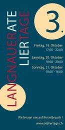 Download Broschüre als PDF (1.3 MB) - Langnauer Ateliertage