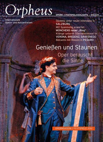 Genießen und Staunen - Orpheus - internationale Opern