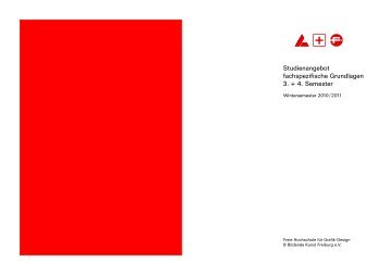 Grafikdesign Handout 3+4 Semester - Freie Hochschule Freiburg