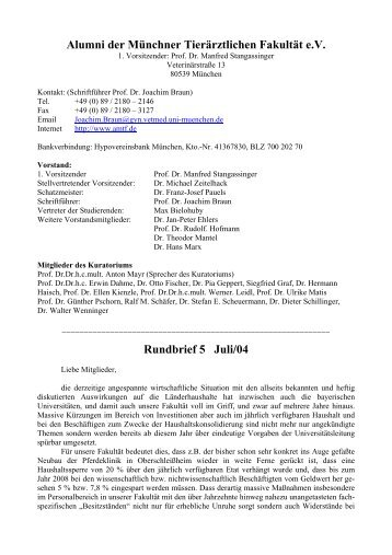 Rundbrief 5 Juli/04 - Alumni