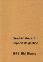 1978 Biel. Bienne - Stadt Biel