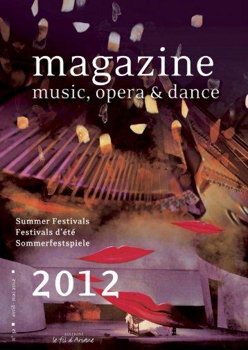 2012-2013 Season - Music & Opera