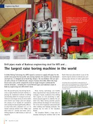 The largest raise boring machine in the world - Buderus Edelstahl ...