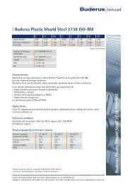 l Buderus Plastic Mould Steel 2738 ISO-BM - Buderus Edelstahl GmbH