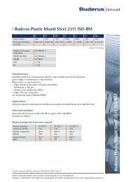Buderus Plastic Mould Steel 2311 ISO-BM l Buderus Plastic Mould ...