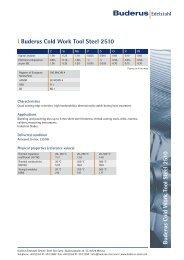 Buderus Cold W ork Tool Steel 2510 - Buderus Edelstahl GmbH