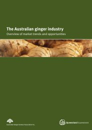 The Australian ginger industry - Department of Primary Industries